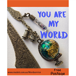 YOU ARE MY WORLD bookmark