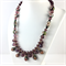 Cloisonné and crystal enamelled necklace- purple and gold