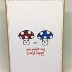 You Make My World Happy Cute Toadstools C6 Card