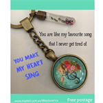 YOU MAKE MY HEART SING keyring