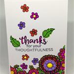 Bright & Cheerful Floral C6 Thank You Card