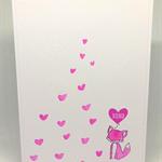 Pink Fox XOXO Love C6 Card