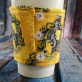 Coffee Cup Wrap: Hufflepuff.