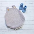 Made to Order - Romper - Hand Knitted - Size 0 - 100% Australian Merino Wool