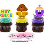 Hey Duggee Edible Wafer Stand-Up Cupcake Toppers - Set of 16