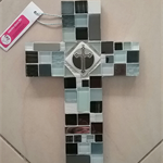 Mosaic Cross - Black and white☯