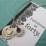 40th Birthday Gift For her -Best Friend Gift- Personalized name Necklace