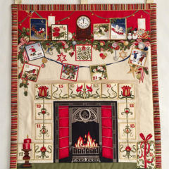 Art Deco Style, Traditional Fireplace Christmas Advent Calendar