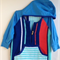 Size 4 Boys Beach Towel Shirt with long sleeves and pocket