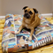 Pet bed, dog bed, floor cushion cover, floor pillow cover, patchwork dog print f