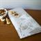 Linen Table Napkins in White Dandelion design