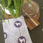 Tea Towel - Lhasa Apso Dog Breed in Purple and White (custom design)