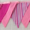 Bunting - Pinks dots and stripes - POSTAGE IN AUST IS INCLUDED IN PRICE