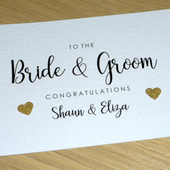 Personalised Wedding Day card - Bride & Groom