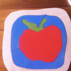 Red Apple Wooden Puzzle