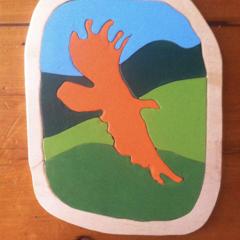 Bunjil- Eagle Soaring Wooden Puzzle