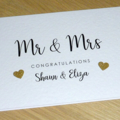 Personalised Wedding Day card - Mr&Mrs Mr&Mr Mrs&Mrs