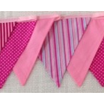 Bunting - Pinks dots and stripes