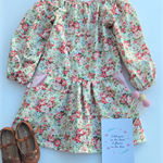 Mia Vintage Long Sleeve Dress - size 4