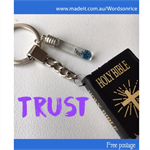TRUST - HOLY BIBLE keyring