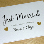 Personalised Wedding Day card - Just Married