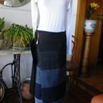 Panelled Denim Maxi Wrap Skirt