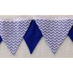 Bunting - Blue and White Chevron - FREE POSTAGE AUST