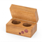 Wooden Double Ring Box made from Queensland Maple
