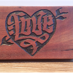 Jarrah Love Carving