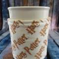 Coffee Cup Wrap: HP wording on White.