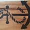 Decorative Wooden Anchor Block Mount