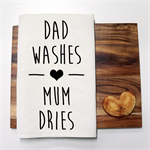 DAD WASHES Linen Tea Towel in Off White