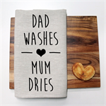 DAD WASHES Linen Tea Towel in Oatmeal