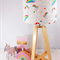 Wooden Table Lamp with Unicorn Lampshade