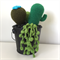 Crochet cacti and succulents arrangement in metal bucket
