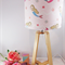 Wooden Table Lamp with  Pink Mermaid Lampshade