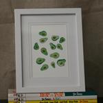 Avocado Illustration Print - Framed 4x6
