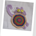 Denise's Crocheted Cat Coasters