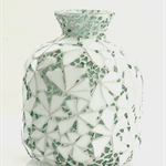 Mosaicked vase or decorator piece