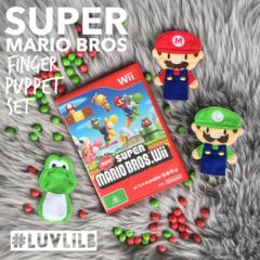 Super Mario Brothers Finger Puppet Set