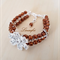 Cuff bracelet - Copper Colour - Bangle - Flower - CZ & Czech - Adjustable - B032