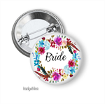 Boho wreath Hens party badges