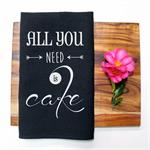 ALL YOU NEED Linen Tea Towel in Black
