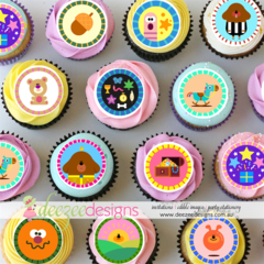 "Hey Duggee Mini Edible Icing Cupcake Toppers - 1.5"" - PRE-CUT - Sheet of 30"