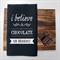 CHOCOLATE Linen Tea Towel in Black