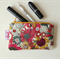 Gift for women Floral Purse Sunflower Gift under 10 Keychain Wallet Small Pouch