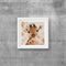 "Baby Giraffe - Wall Art, PRINT, Watercolour Painting 8""x8""