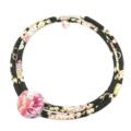 Kimono Cord Necklace Florals