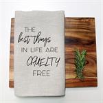 CRUELTY FREE Linen Tea Towel in Oatmeal