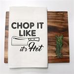 CHOP IT Linen Tea Towel in Off White